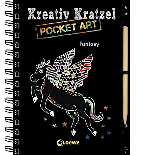 Kreativ-Kratzel Pocket Art: Fantasy (Kreativ-Kratzelbuch) (Kreative Kinder)