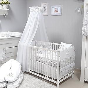 babymajawelt-Baby-Juego-de-ropa-de-cama-Juego-de-cama-4-piezas-Voile-para-cuna-70-x-140-cm-Ropa-de-cama-100-x-135-cuna-cielo-Voile-baldachim-Mosquitera-blanco-STERNTALER
