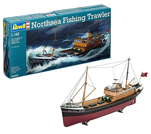 Revell- North Sea Fishing Trawler, Kit Modello, Escala 1:142 (5204) (05204),,...