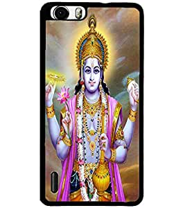 ColourCraft Lord Vishnu Design Back Case Cover for HUAWEI HONOR 6