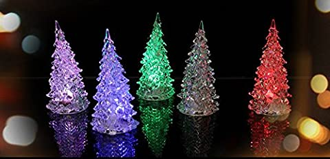 Colorful Glasfaser LED Glowing Weihnachtsbaum mit einem Top Star, Colorful Christmas Tree, 2 pcs Christmas Tree