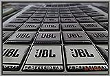 2 x Stück JBL UNIVERSAL 3 D Dome Sticker Typ -Chrom-Black- * Maße: 30mm(3cm) x Lang 30mm(3cm) Dicke 1,8-2mm