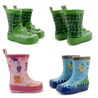 New Boys Girls Infants Wellington Boots Snow Winter Rain Wellies UK Sizes 4-10