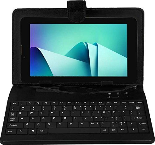 I Kall K1 Tablet (7 inch, 4GB,Wi-Fi+3G with Voice Calling) Black with cover