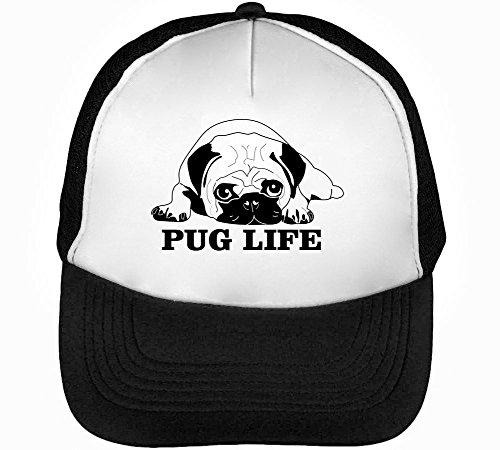 1GD Pug Life Graphic Men s Baseball Trucker Cap Hat Snapback Black White -  Buy Online in Oman.  f915f5e05f5