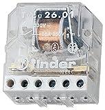 Finder Serie 26–Relais semincasso Interruttore Bipolare 2contatto aperto 230VAC