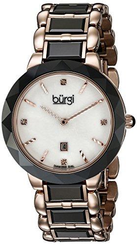 Burgi Femme Montre à quartz avec cadran blanc Affichage analogique et bracelet multicolore mixte bur147bkr