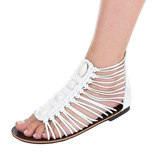 Ital-Design - Sandali alla schiava Donna Bianco