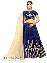 KMOZI Silk Lehenga Choli (BCL-03K_Blue_Free Size )