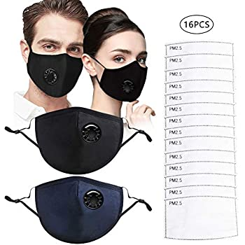 Anti Washable Fold Flat Cotton Mouth Mask Reusable Pack Pollution Respirator Face Valve Safety 2 With Dust Breathing N95 Unisex Masks