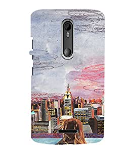 EPICCASE City View Mobile Back Case Cover For Moto X 3rd Gen (Designer Case)