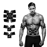 Insense EMS Muscle Stimulator, Muscle Toner AB Trainer, Rechargeable Abs Toning Belt Home Workout Fitness Equipment Machine for Men & Women Equipment (Black)