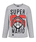Die besten Bro Shirts - SUPER MARIO BROS Jungen T-Shirt 5246, Grau Gris Bewertungen
