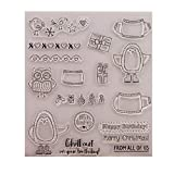 exing Merry Christmas Clear Stamp Cling Seal DIY Scrapbook Embossing Album Decor Craft