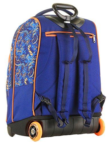 9769017815 Trolley Bambino Seven + Cartellina A4 - Blu Arancione - Spallacci a  Scomparsa! Zaino 35 LT Scuola e Viaggio