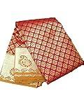 TSR ENTERPRISES Women's Bangalore Silk Saree with Blouse Piece (TSR-434, Red)