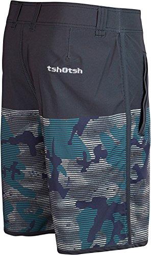 Tshotsh - Boardshort Hybrid / Short De Bain - Homme Vert
