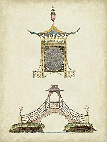 Artland Poster oder Leinwand-Bild fertig aufgespannt auf Keilrahmen mit Motiv Vision Studio Gartentore III Architektur Architektonische Elemente Illustration Sepia D0EG