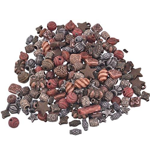 Souarts Schmuckteile Gemischte Acrylperlen Spacer Beads Kugel Schmuckperlen Zubehoer Zum Basteln Dunkelfarbe 100g