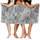 Best Royal Black Hair Products - Doormat bag Grey Animal Hair Texture Adult Soft Review
