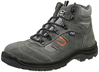 Allen Cooper AC-1464 Safety Shoe, Double Density DIP-PU Sole, Grey, Size 8