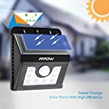 Mpow Solar Lights Motion Sensor Security Lights 3-in-1 Waterproof Solar Powered Lights Outdoor Lights for Garden, Fence, Patio, Yard, Walkway, Driveway, Stairs, Outside Wall etc. (3 Intelligient Modes, 8 LED) Bild 1