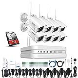 ANNKE WiFi Überwachungskamera Set, 1080P 8CH HD Wireless NVR Recorder + 8 * 1080P IP Überwachungskamera, Plug und Play System (1TB HDD)