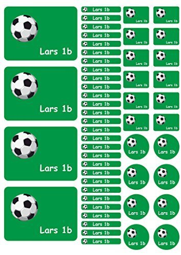 Adhesivo Nombre Pegatinas De Cuaderno Etiquetas Pegatina Hoja Pegatinas Fútbol