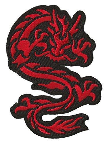 Parche insignia termoadhesivo Dragón rojo