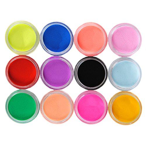 Mode Galerie 12 Couleur Acrylique Poudre Poussière Liquide Pailletes Vernis Nail Art Kit