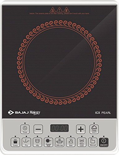 BAJAJJ Plastic ICX Pearl Induction Cooktop (Multicolour)