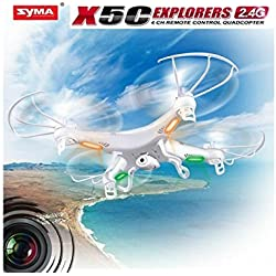 Syma x5 X5C-1 2.4 G HD Quadcopter RTF RC Helicóptero con cámara de 2.0 MP