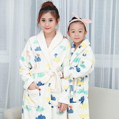 Yimidear Maman-enfant Pajamas Peignoir Epaissir Robes Soft Flannel Nightgown Poupées Vêtements de nuit white