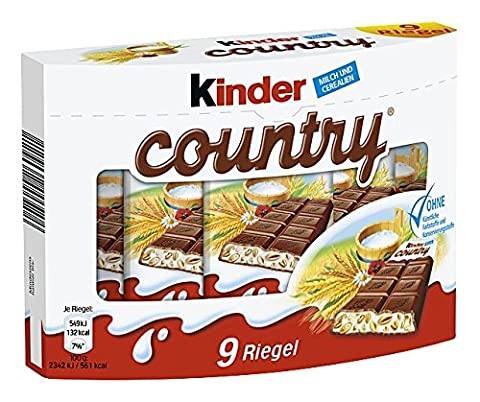 Kinder Barres aux Céréales Soufflées/au Chocolat Fondant 211 g - Lot de 6