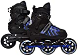 Hi-Widze Inline Skating XL Size Adjustable All Pure PU Wheels of Aluminum-Alloy With
