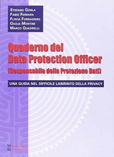 Quaderno del data protection officer (responsabile della protezione dati)