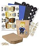 DIY de football Set Calendrier de l'Avent pour travaux manuels???Calendrier de l'Avent de bricolage Football???remplir soi-m?me???Maillot bleu Pantalon Noir Stickers Noir