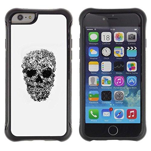 [ For APPLE IPHONE 6 / 6S (4.7 INCH) ][ ToughCase ][ Custodia ibrido ] - Rock Roll Metal Heavy Skull Biker Art