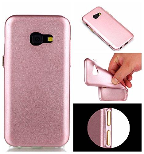 YHUISEN Galaxy A5 2017 Case, Solid Color Matte Slim Fit Soft TPU Gel Langlebig Schock Absorbing Schutzhülle für Samsung Galaxy A5 2017 A520 ( Color : Blue ) Pink