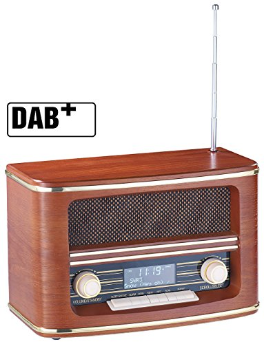 Nostalgie: Digitales Nostalgie-Stereo-Radio mit DAB+, Bluetooth 3.0, FM & Wecker (DAB Nostalgieradio) ()