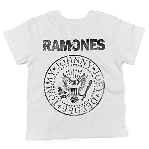 LaMAGLIERIA Camiseta para bebés Ramones Grunge Black Print -...