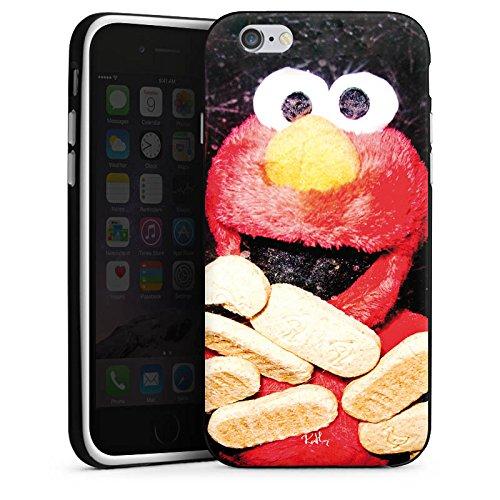 Apple iPhone X Silikon Hülle Case Schutzhülle Oliver Rath Elmo Sesamstraße Silikon Case schwarz / weiß