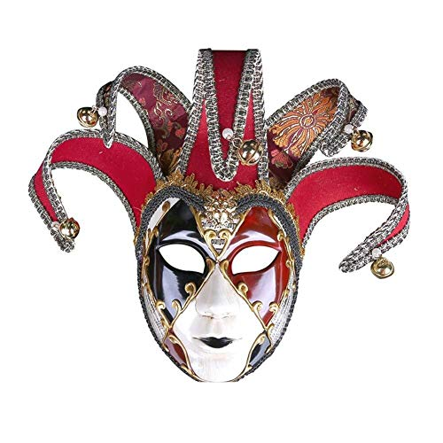 AMY-ZW Bemalte Venedig Maske - Halloween Maske - Cosplay Kostüm Maske - Party Rave Maske - Erwachsene Und Kinder (Edel Clowns Figuren Und Kostüm)
