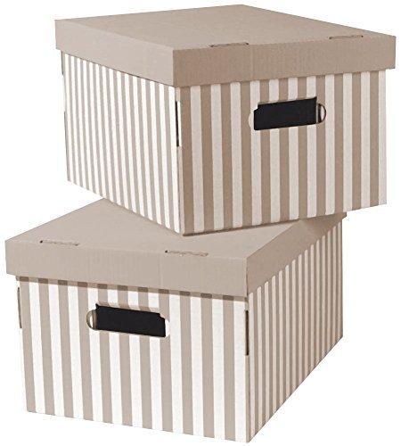 Compactor - Scatola, in cartone, set da 2, colore: Talpa