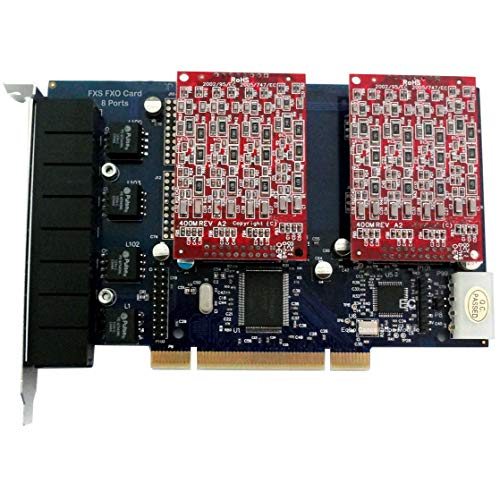 TDM800P - Asterisk Karte mit 8 FXO,PCI Karte,Issabel,AsteriskNow,Freepbx,Dahdi Telefonanlage VoIP Telefonlösung PBX