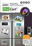 Lot de 5 papiers photo brillant avec envers magnétique pour imprimante jet d'encre, 640 g, 10x 15cm