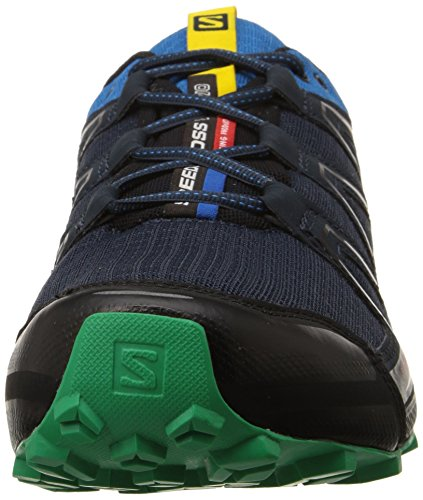 Salomon Speedcross Vario, Chaussures de trail homme Noir - Schwarz (Deep Blue/Methyl Blue/Real Green)