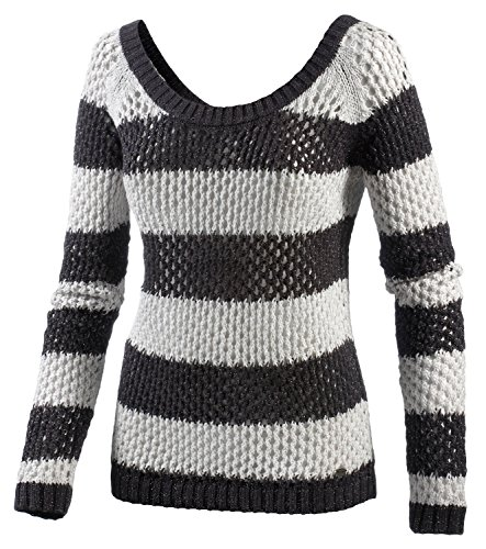 Roxy - Maglione, Donna, Pullover Rock The Beat, Stripe Rock The Beat, XL