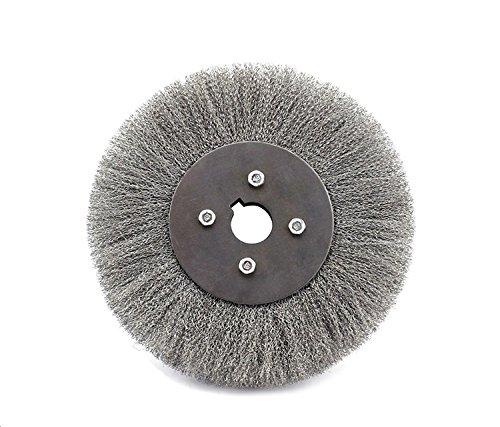 0,2 millimetri filo piatto - Tipo in acciaio inox filo della rotella piatto spazzola rotonda (Testa Piatta Spazzola)