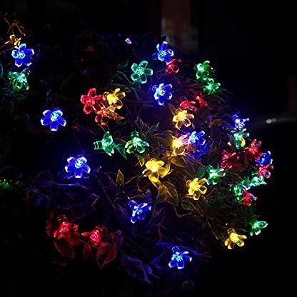 Yasolote-Solar-Lichterkette-Blumen-Wasserdicht-5m-50-LED-8-Modi-mit-Lichtsensor